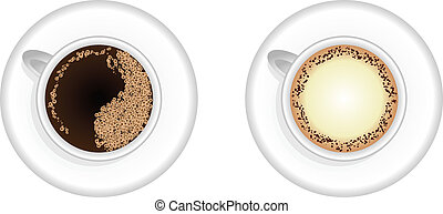 Espresso and Cappuccino coffee
