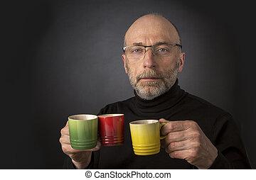 Espresso anybody!? Man headshot
