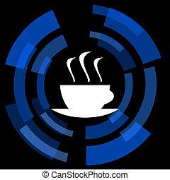espresso black background simple web icon