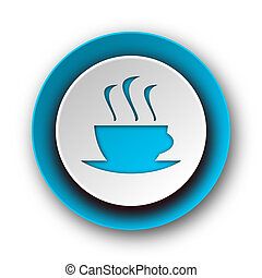 espresso blue modern web icon on white background