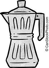 espresso, caricatura, fabricante