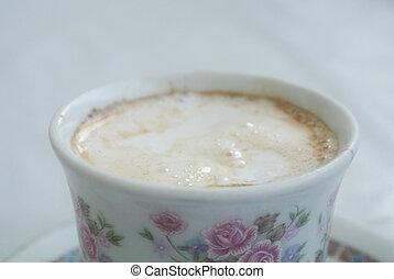 Espresso coffee closeup