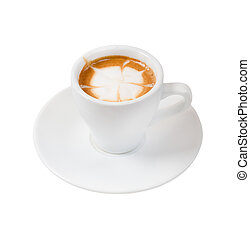 espresso coffee . Cup of coffee on a white background