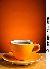 espresso coffee cup - still life with orange espresso coffee...