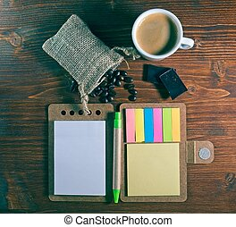 Espresso Coffee Cup with notepad