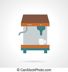 Espresso coffee machine flat vector icon.
