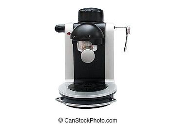 Espresso coffee machine front view