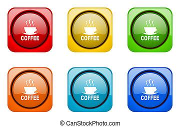 espresso colorful web icons