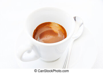 Espresso - Cup of espresso coffee on the table