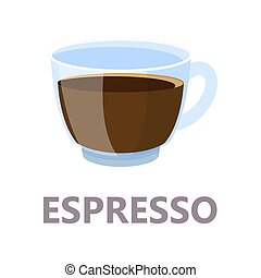 Espresso cup of the coffee. Brown drink