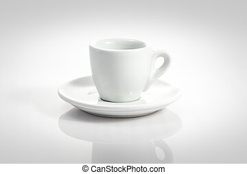 espresso cup with saucer isolated on a white background