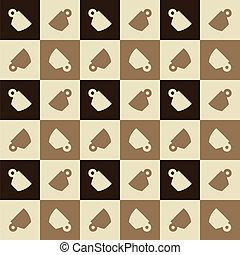 Espresso cups seamless pattern