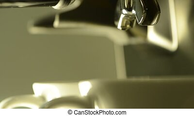 Espresso Extraction - Two shot of Espresso extraction -...