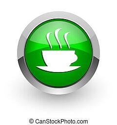 espresso green glossy web icon - green glossy web icon