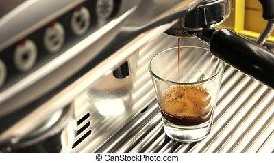 Espresso machine, close up.