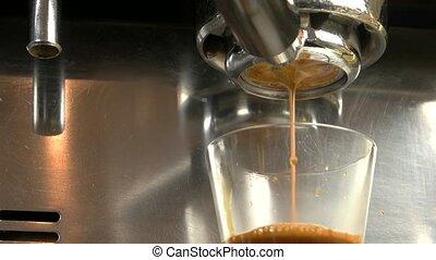 Espresso machine close up.