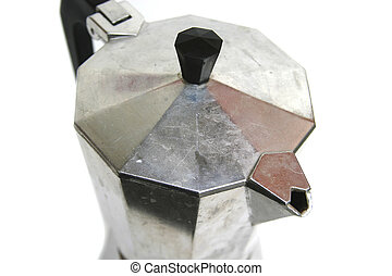 Espresso Maker - Espresso maker isolated on white.