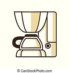 Espresso Maker Machine Coffee Shop Equipment Illustration