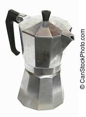 Espresso Maker - Stove top espresso machine isolated on...