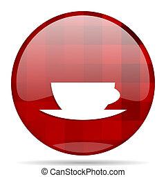 espresso red round circle glossy modern design web icon