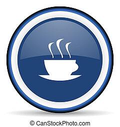 espresso round glossy icon, modern design web element