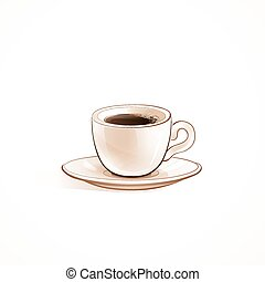 Espresso. - Sketchy vector illustration of espresso.