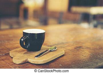 espresso, skott, kaffe