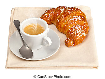 Espresso with croissant