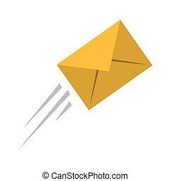 esprimere posta, busta, email, volare