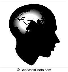 esprit, cible, humain