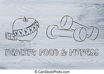 esprit, corps, et, soul:, crise, vie, et, nourriture saine