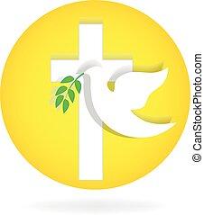 esprit saint, colombe, et, croix