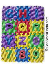 espuma, alfabeto