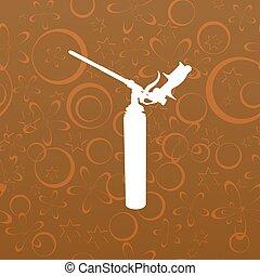 espuma, arma, ícone