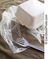 espuma, caixa, e, plástico, embalagem