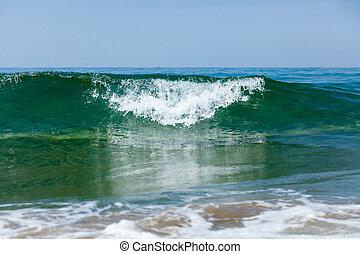 espuma, costero, onda