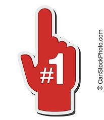 espuma, dedo, ícone