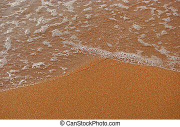espuma, lote, espaço, texto, onda, mar, praia, arenoso