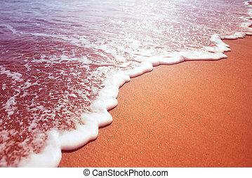 espuma mar, de, um, onda