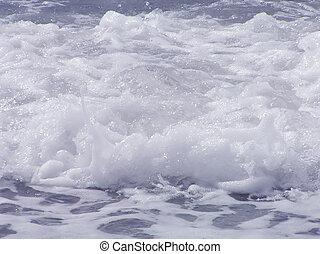 espuma, ondas