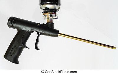 espuma, pistola, polyurethane