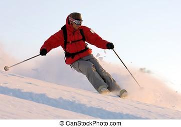 esquí, deporte, -