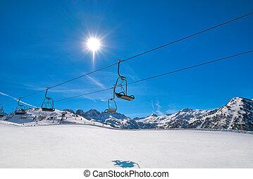 esquí, punto, boina, recurso, baqueira, lerida, valle, aran...