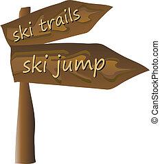 esquí, señal
