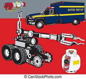 esquadra, bomba