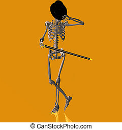 esqueleto, #03, dançar