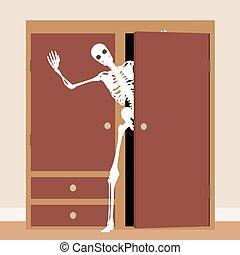 esqueleto, armário