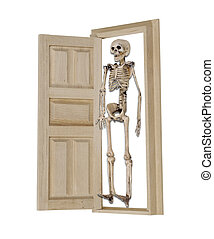 esqueleto, armario