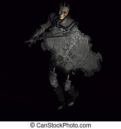 esqueleto, guerreira, rei, #02