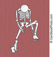 esqueleto, ilustração